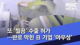 또 '찔끔' 수출 허가…판로 막힌 日 기업 '아우성' (2019.08.20/뉴스데스크/MBC)