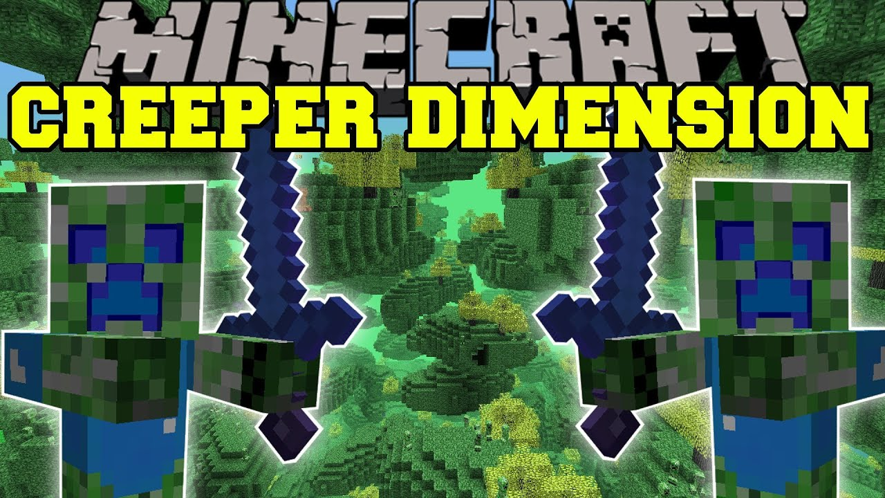 Minecraft Creeper Mod Minecraft Creeper Dimension