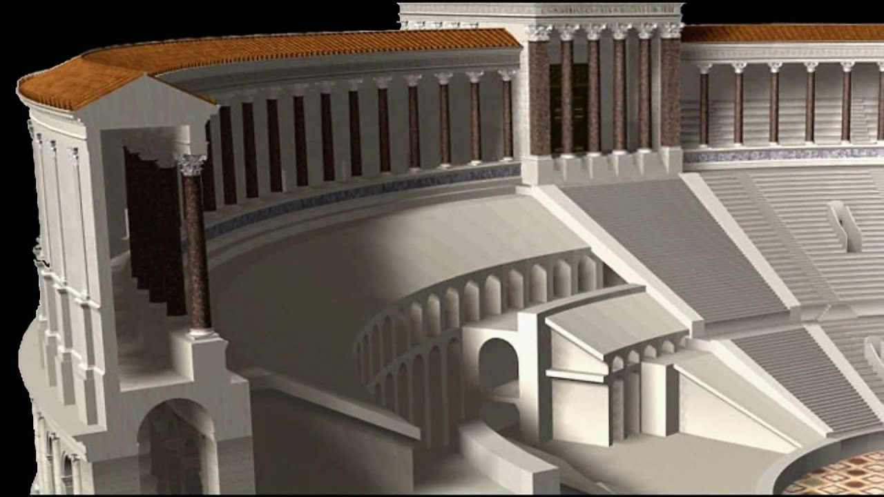 Ancient rome theatre of pompey hd youtube