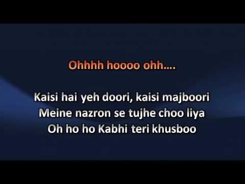 Tujh Mein Rab Dikhta Hai Song Karaoke With Lyrics