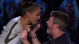 Comedy Act Gets Simon and Mel B Out Of Control On Judge Cuts | America
