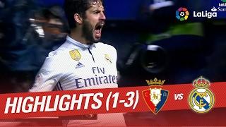 Resumen de Osasuna vs Real Madrid (1-3)