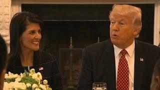 Trump jokes: Haley could be
