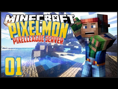 Minecraft Pixelmon: PixelLeague: Episode 1 - A New Land!