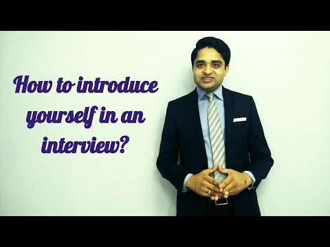 How to introduce yourself in a job interview