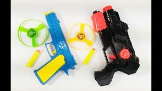 Learn colors with colored toy guns for kids ! Box of Toys & Box of Toy Guns