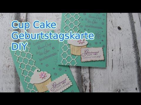 Geburtstagskarte Cup Cake selber basteln - cardmaking [deutsch]