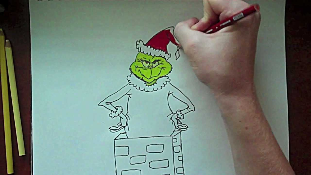 mr Grinch Drawing The Grinch Drawing
