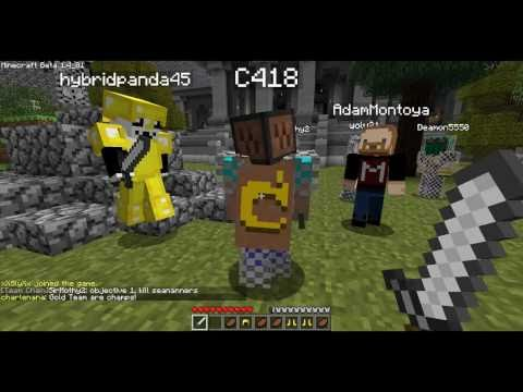 Capture the Flag w/Seananners, CaptainSparklez, PBat, SlyFox, Luclin, Wolv21, C418, and more! (HD)