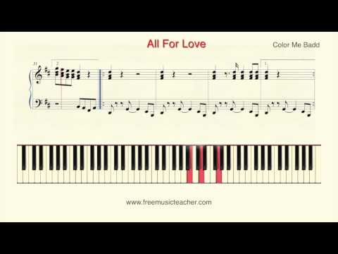 How To Play Piano: Color Me Badd All For Love Piano Tutorial  Ramin Yousefi