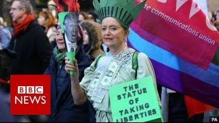 Donald Trump protests: Washington leads global rallies - BBC News