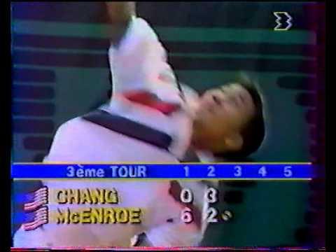 チャン vs マッケンロー - ローランギャロス 1988 - 04/08