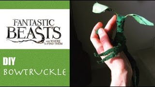 Fantastic Beasts And Where To Find Them - DIY -BOWTRUCKLE - Tutorial - Cosplay Newt Scamander