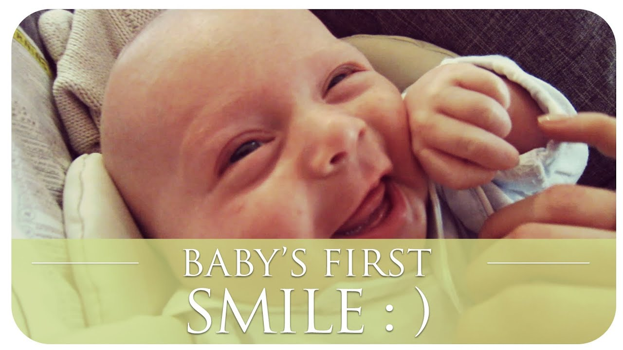 Baby Smiling Baby's First Smile | Hannah
