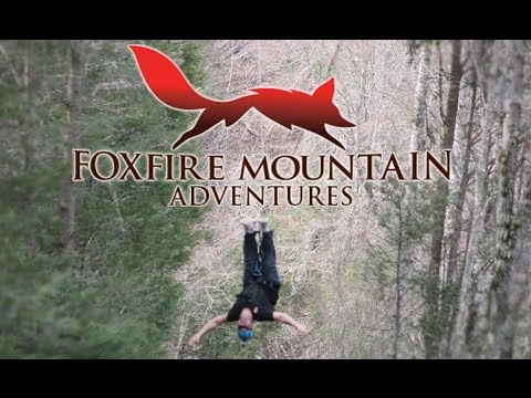 Upside Down Ziplining at Foxfire Mountain Ziplines in Sevierville, TN - Foxfire Mountain Adventures