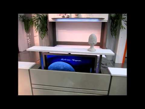 Lit escamotable et bureau coulissant fran ois desile youtube - Lit avec tv escamotable ...