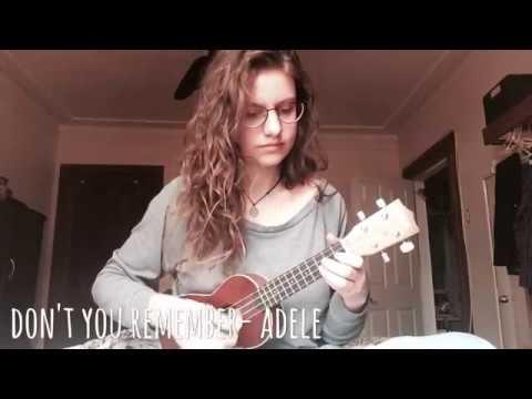 Dont you remember  Adele ukulele