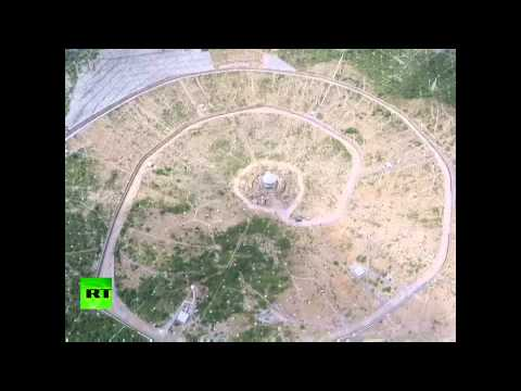 Drone footage: China building world's largest 500-meter radio telescope