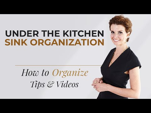 How to Organize The Kitchen Under Sink Cabinet - Home Organizing Tips by A Personal Organizer