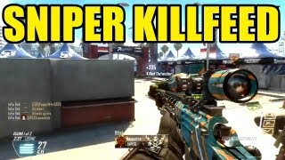 BLACK OPS 2 SNIPER KILLFEED | Call of duty | FFA Quadfeed Headshot, DSR50 FEED After Patch...