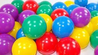 Video per bambini! Palline colorate! Impariamo i colori! Giocattoli & sorprese!