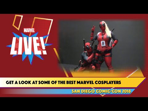 Becoming Cosplayers Take Over the Marvel Stage Live at SDCC 2018