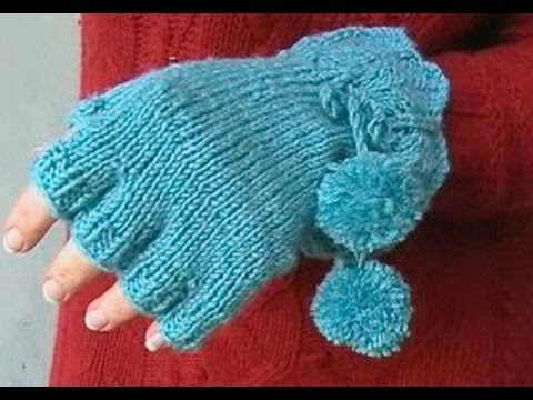 Knitting Pattern For Childrens Gloves With Fingers : HOW TO KNIT FINGERLESS GLOVES - With individual fingers ...