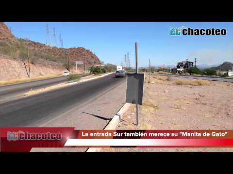 """La entrada sur de Guaymas también quiere su """"Manita de Gato""""..."""