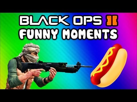 Black Ops 2 Funny Random Moments - Hot Dog, Mic Farts, Emblem Trolling, Xbl Messages (funtage) video