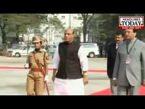 Rajnath Singh arrives for DGP conference in Assam