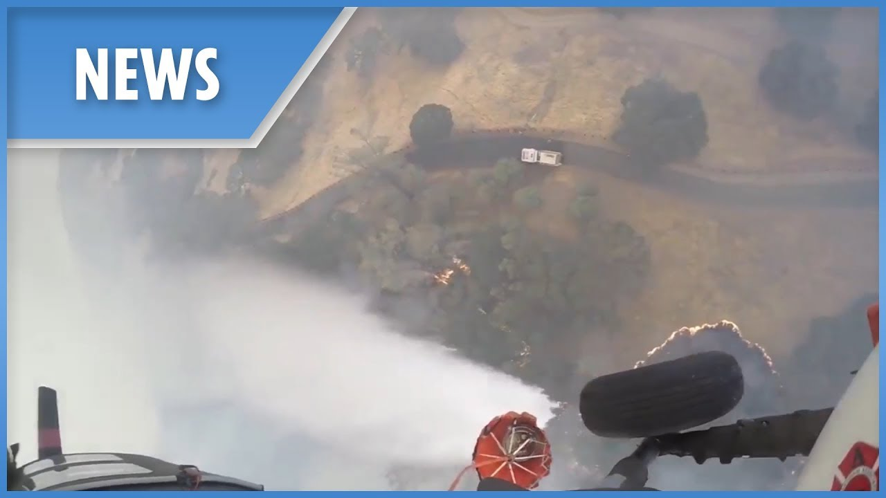 Firefighting helicopter goes to work