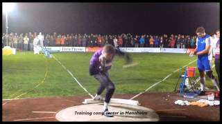 David Storl (GER) , 21.18m in the Thum throwing meeting Thum / Germany.