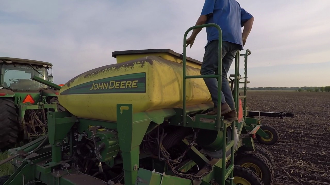 Rolland Schnell planting no-till soybeans