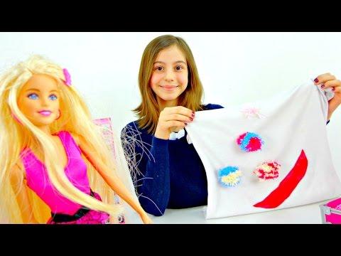Видео с Барби. Новый наряд из старой майки