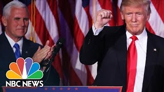 Donald Trump's Surprise Win Sparks Protests And Jubilation | NBC News