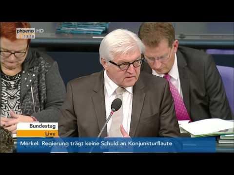 Regierungsbefragung: Frank-Walter Steinmeier zu ziviler Krisenprävention am 12.11.2014