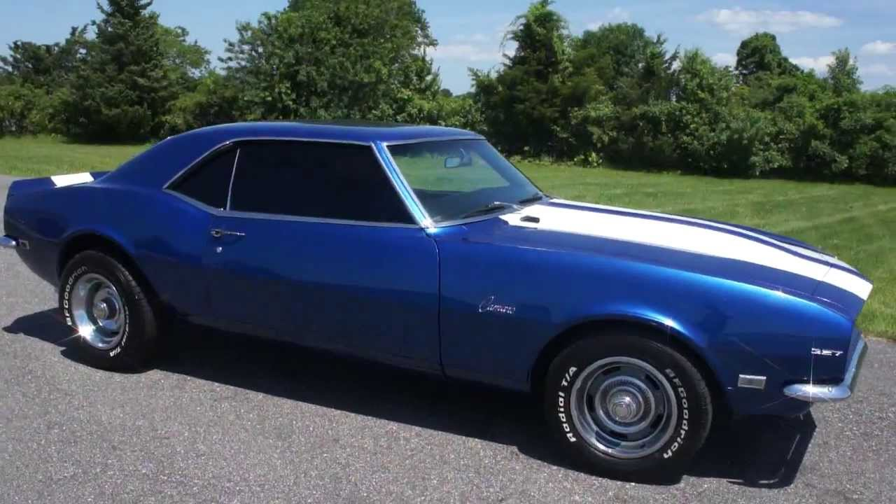 1968 Camaro For Sale Matching 327 Automatic Blue White