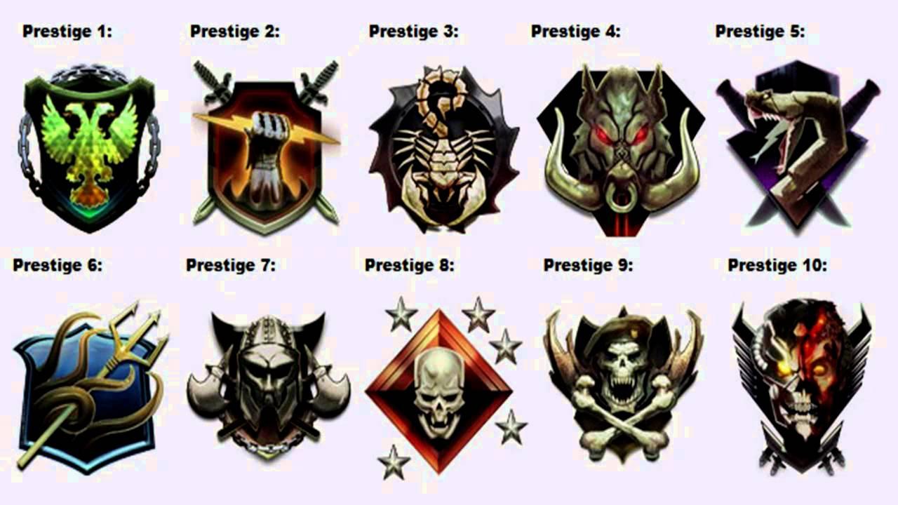 Prestige Emblems Black Ops 1 Black Ops 2 Prestige