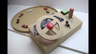 ИГРА ЗА РУЛЁМ ИЗ КАРТОНА Как сделать Игра За рулём из картона