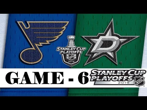 St. Louis Blues Vs Dallas Stars   Second Round   Game 6   Stanley Cup 2019   Обзор матча