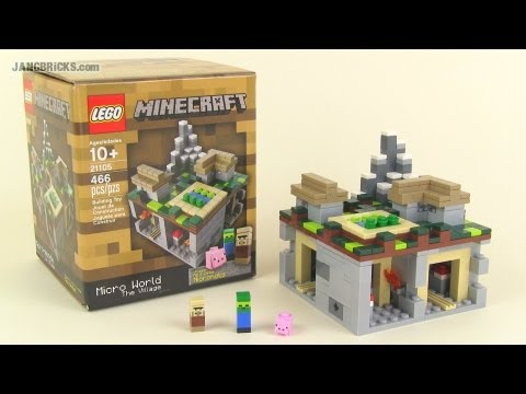 LEGO Minecraft 21105 The Village micro world set Review!