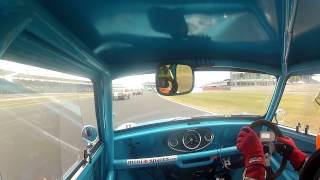 Endaf Owens Historic Mini cooper S at Silverstone classic 2013 masters