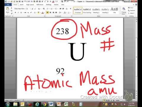 writing isotopes