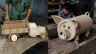 13 creative handcraft use wood & bamboo make beautiful item, DIY 2019