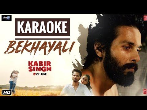 Download Lagu  Bekhayali Kabir Singh - Karaoke With s || Latest Bollywood Karaoke Songs Mp3 Free