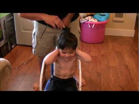 3 year old gets hair cut for FREE