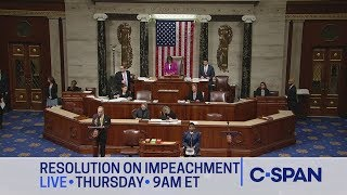 LIVE: U.S. House Debate & Vote on Impeachment Inquiry Resolution