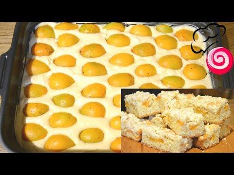 Пирог с абрикосами и мягким штрейзелем