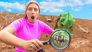 SEARCHING for POND MONSTER MASK EVIDENCE!! (Vlog Camera Stolen)