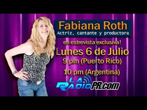 FABIANA ROTH entrevista con EL FISU-SHOW - La Radio PR